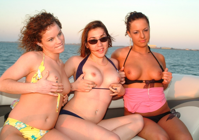 South Padre 3 Girl Boat Ride